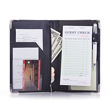 Deluxe Server Book Organizer For Restaurant Waiter Waitress Waitstaff