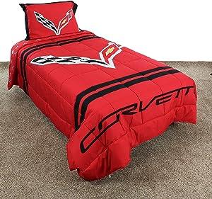 """College Covers C7 Corvette Comforter Set, Full, 80"""" x 90"""", Team Color"""