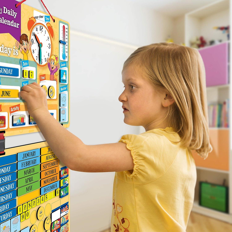Aktivit/äten Wetter 2018 Kinder Kalender Magnettafel mit 134 Lern-Magneten zur Befestigung an Wand oder K/ühlschrank Jahreszeit Zeit Emotionen. Lehrreiche Aktivit/ät f/ür Grundschule oder Zuhause