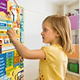 Kids Daily Calendar Magnetic,Hang on Wall or Fridge for Home or