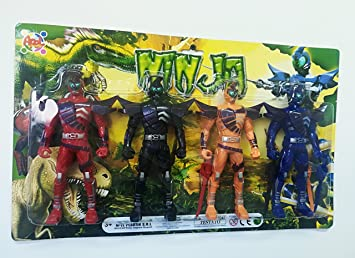 Takestop® Juego Piezas Power personajes Guerrieri Ninja Rangers Steel Storm Juegos para niños a partir 3 años juguete