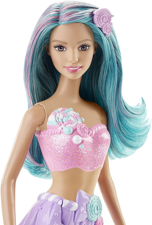 Barbie - Muñeca, Vestido de Sirena, Color Dulces (Mattel DHM46): Amazon.es: Juguetes y juegos