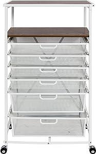 Origami CC6-WHITE Folding Craft cart, 33, White