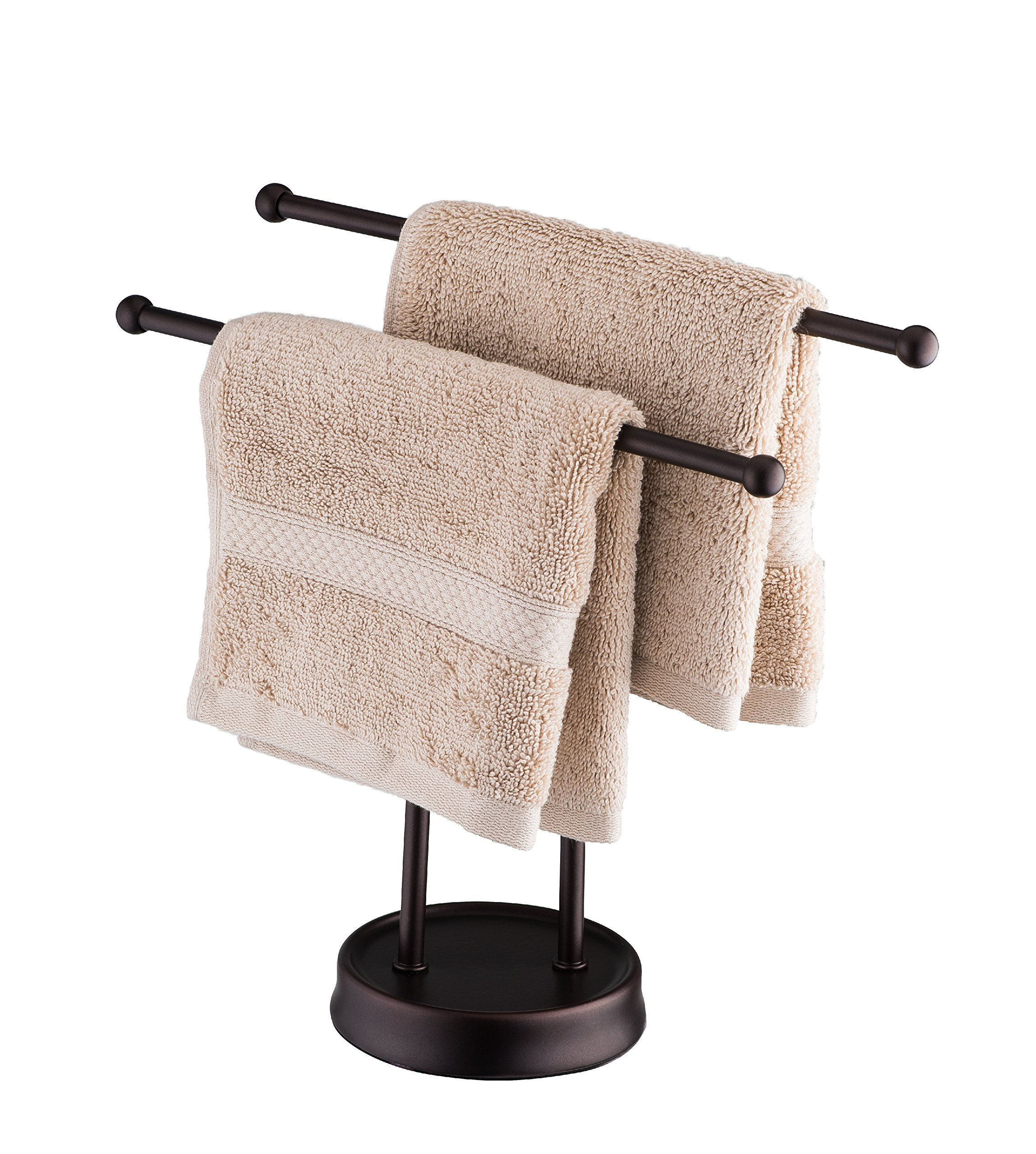 AMG and Enchante Accessories, Free Standing Fingertip Hand Towel Bar Holder Tree Rack, TT100005 ORB, Oil Rubbed Bronze