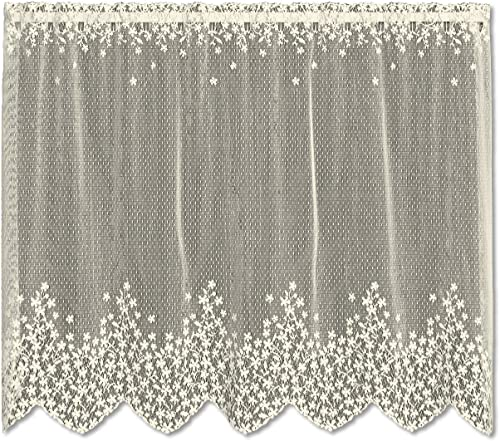 Heritage Lace Blossom 42-Inch Wide by 30-Inch Drop Tier, Ecru