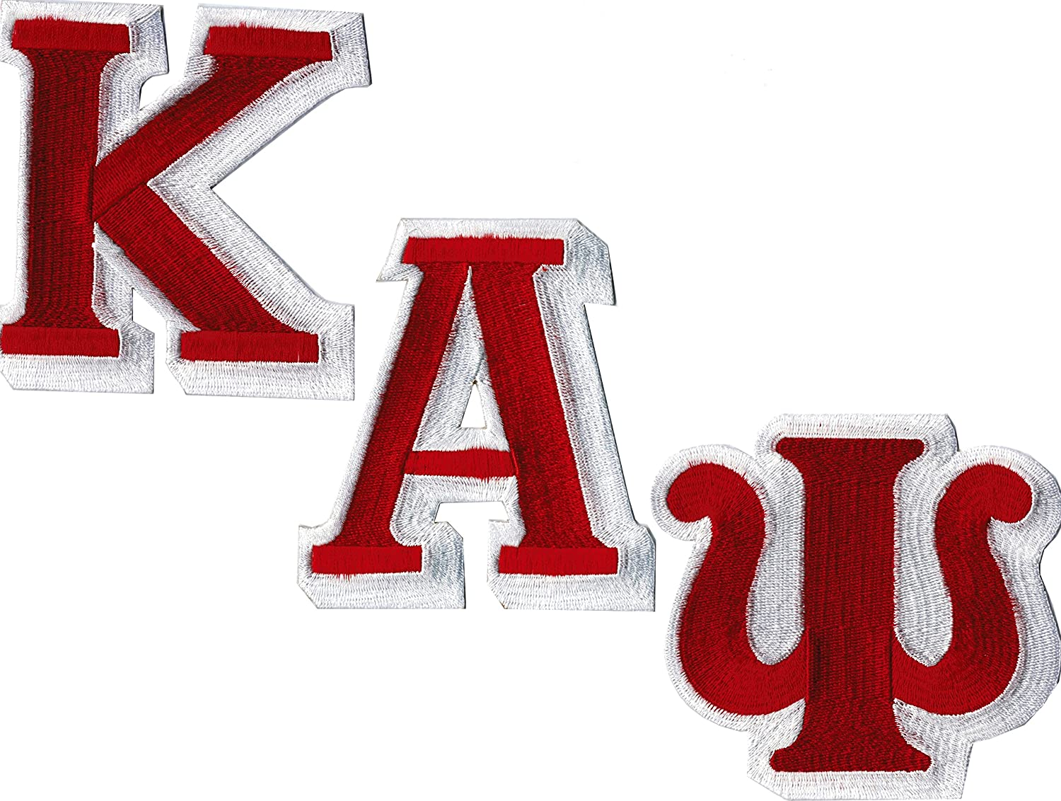 Kappa Alpha Psi Individual Letter Iron-On Patch Set 59676