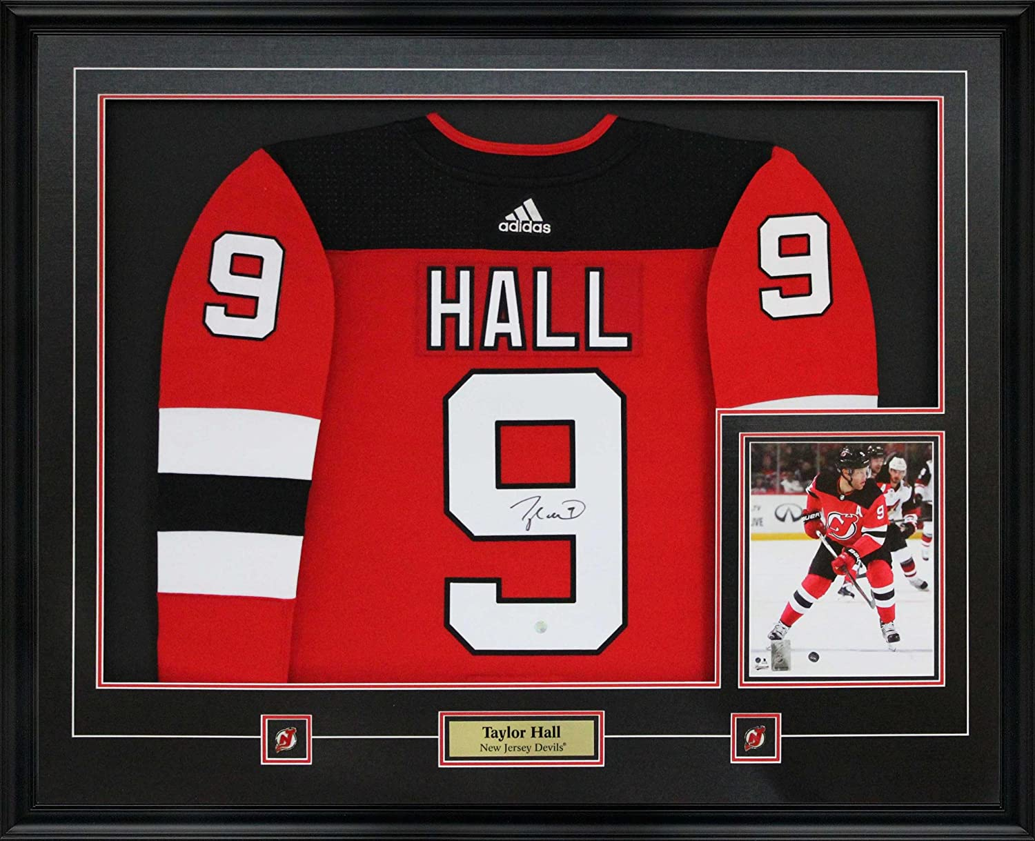 innovative design 09b8f 6b1d0 Frameworth Taylor Hall Signed Jersey Framed Pro Adidas ...