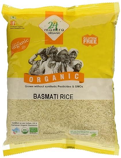 24 Mantra Organic Basmati Rice Premium Polished, 1kg