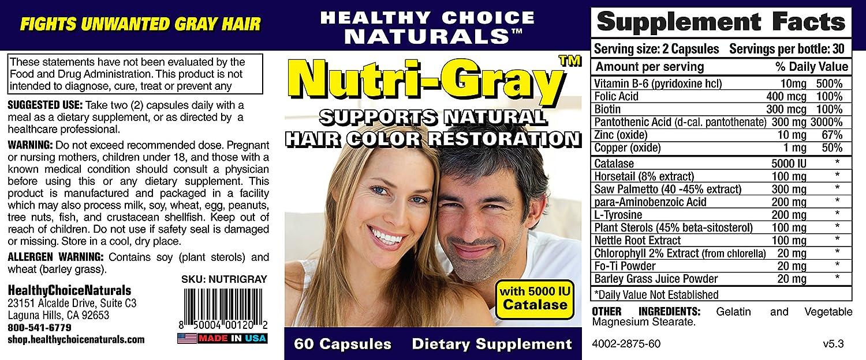 Amazon Nutri Gray Hair Color Restoration Vitamin With Catalase