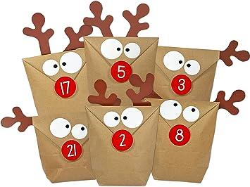 Weihnachtskalender Elch.Kuschelich Diy Adventskalender Elch Zum Befüllen Selber Machen Ohne Schere Alle Teile Gestanzt Neuauflage Des Original Elchtütenkalenders