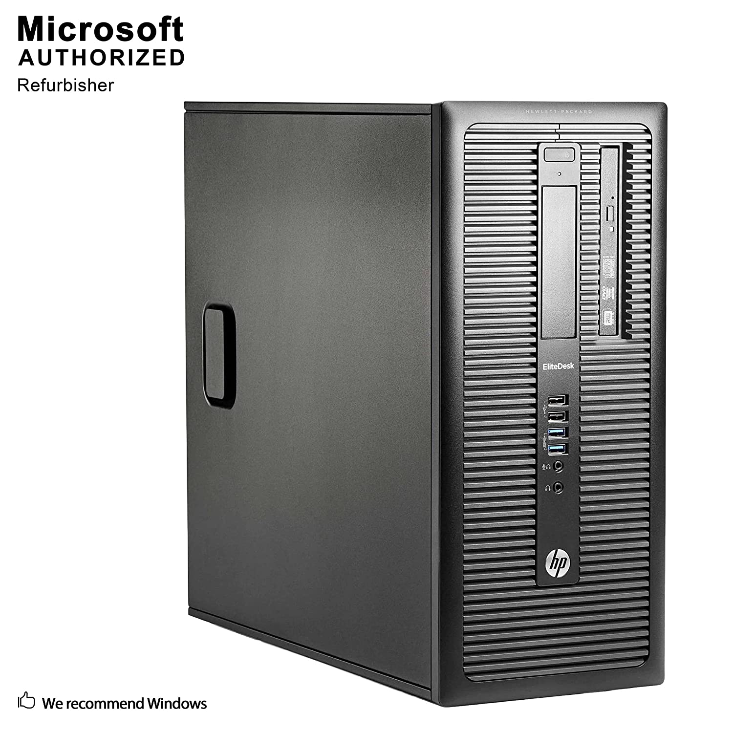 Fastest HP EliteDesk 800 G1 Business Tower Computer PC (Intel Ci5-4570 upto 3.9GHz, 16GB Ram, 1TB HDD + 120GB Brand New SSD, Wireless WIFI, Display Port, USB 3.0) Win 10 Pro (Renewed)