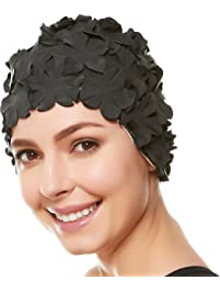 how to put on a swim cap with short hair