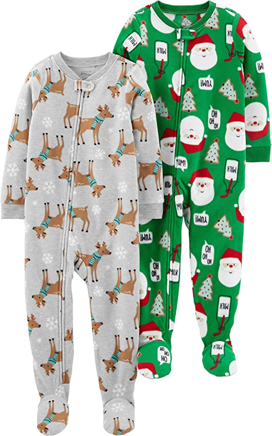 Snug-Fit Santa Cotton Pajamas Set Carters Baby Boys 2-Pc