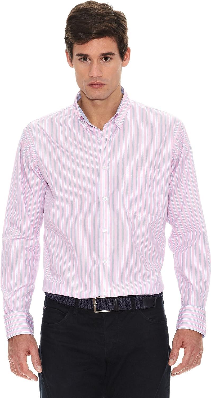 Turrau Camisa Raya Doble Rosa/Azul M: Amazon.es: Ropa y ...