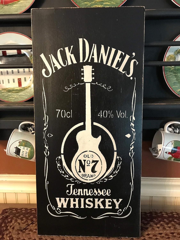 Dick Jack Daniels Primitive Wood Sign 12 x 20