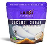 Laird Superfood Organic Coconut Sugar | Non GMO, Low Glycemic Sweetener - 1 lb