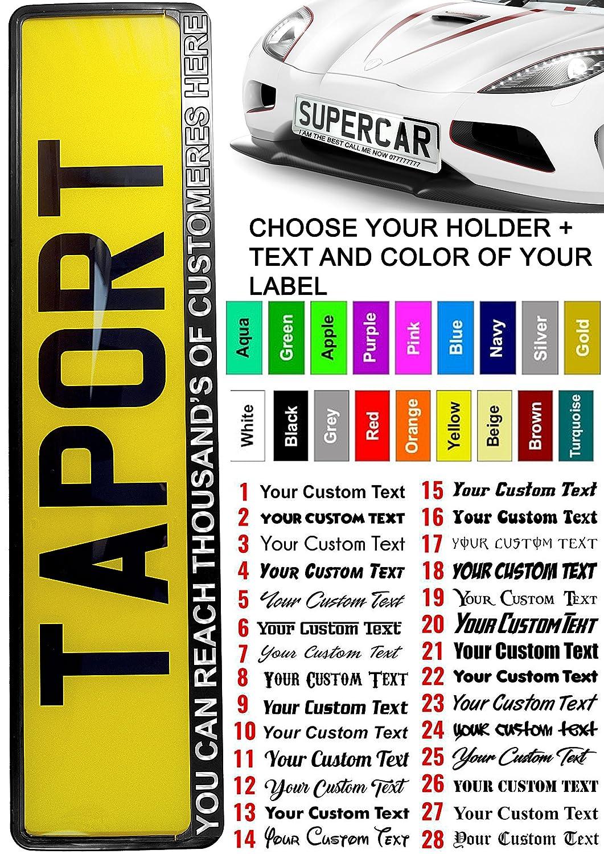 /Étiquette personnalisable pour plaque d/'immatriculation Taport/® camion remorque Convient /à nimporte quelle voiture van