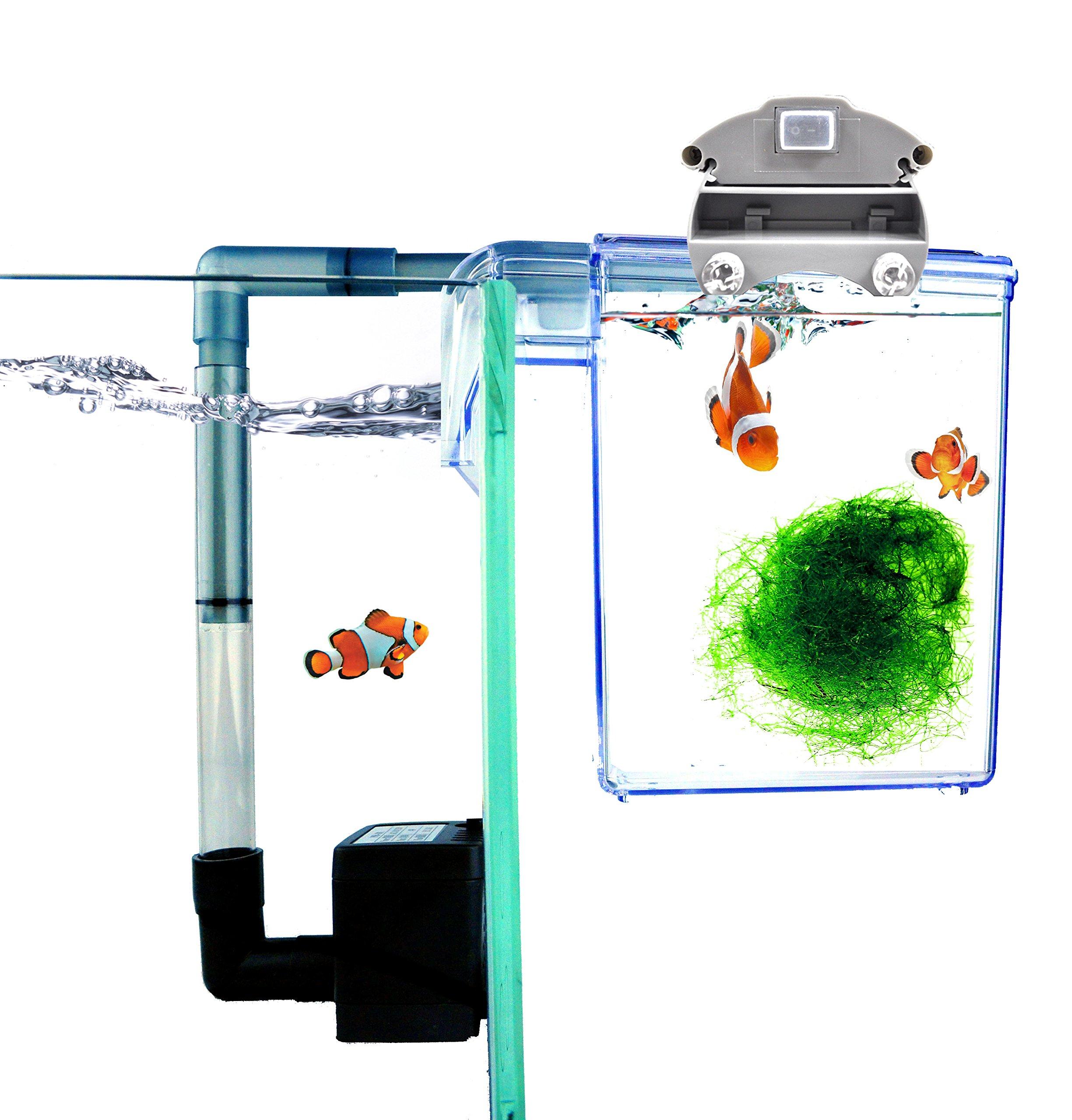 Finnex External Refugium Breeder Hang-on Box Water Pump, Fuge Ray LED by Finnex