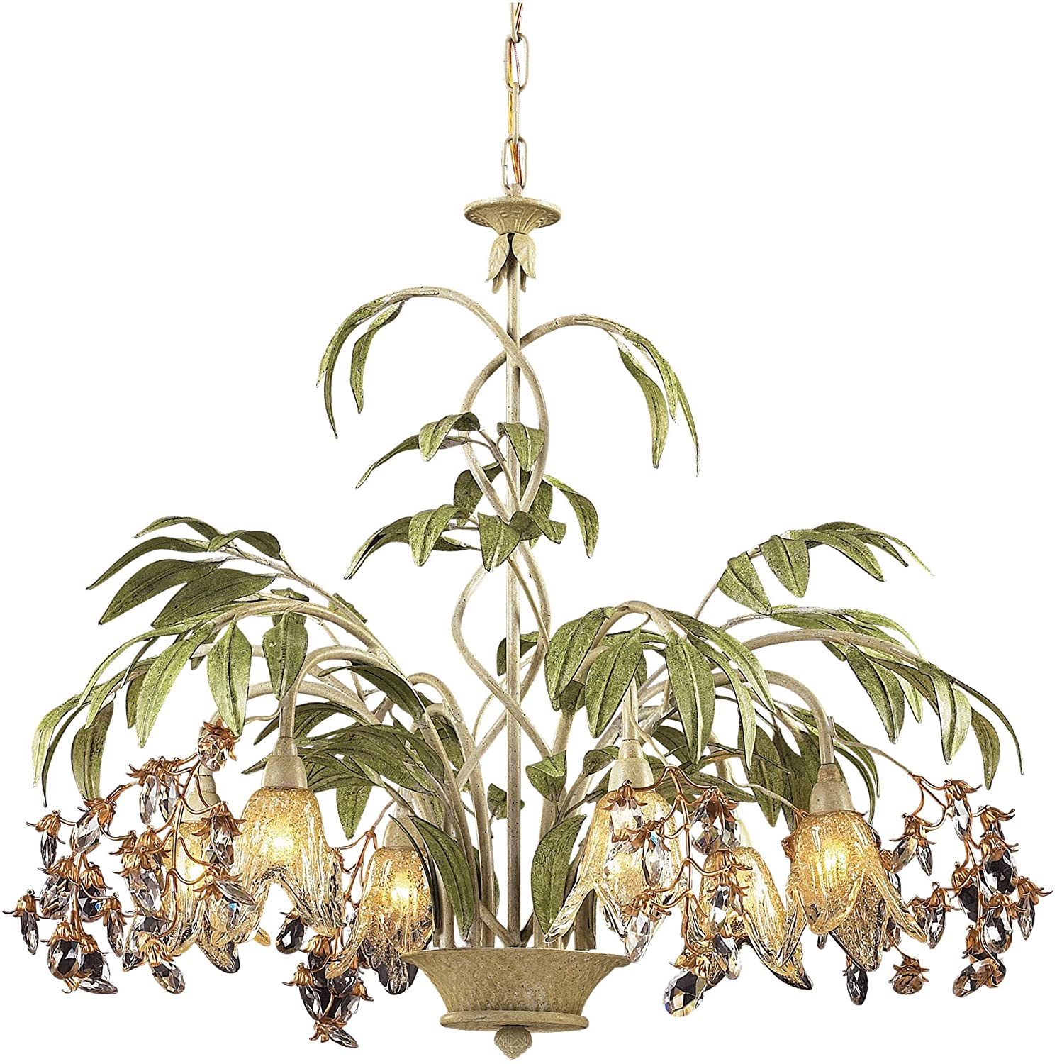 Amazon Elk Lighting Huarco 6 light Chandelier in Seashell and