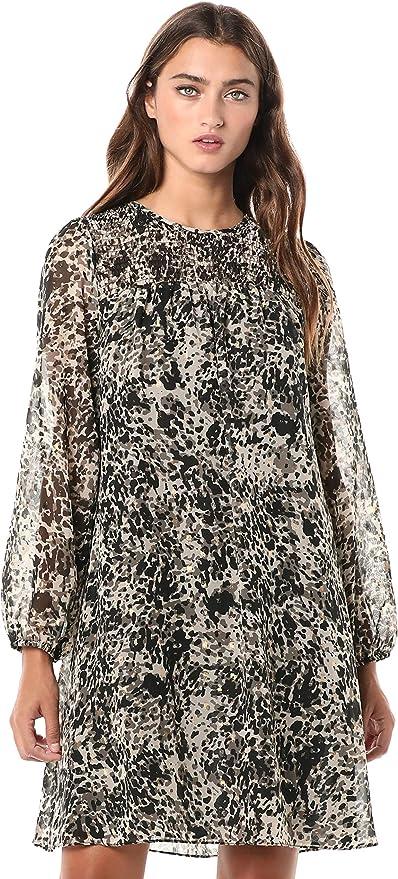 Tommy Hilfiger 汤美费格 豹纹印花 女式雪纺连衣裙 2.9折$38.96 海淘转运到手约¥300