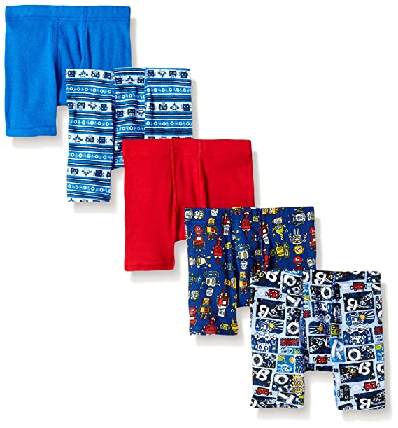 Hanes Toddler Boys 5-Pack Comfortsoft Boxer Brief, Assorted, 4