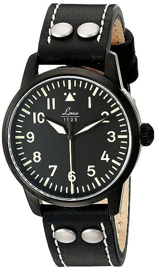 Laco 1925 - Reloj analógico automático para hombre con correa de piel, color marrón