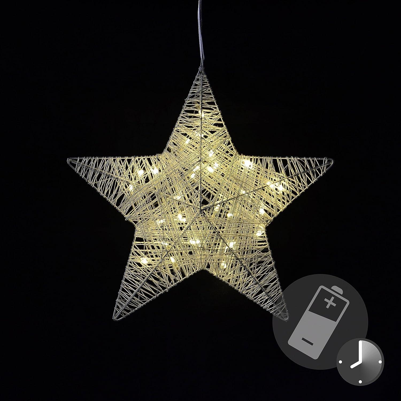 Fensterdeko Deko LED Weihnachtsdeko Leuchtstern für Steckdose Adventsstern BUNT