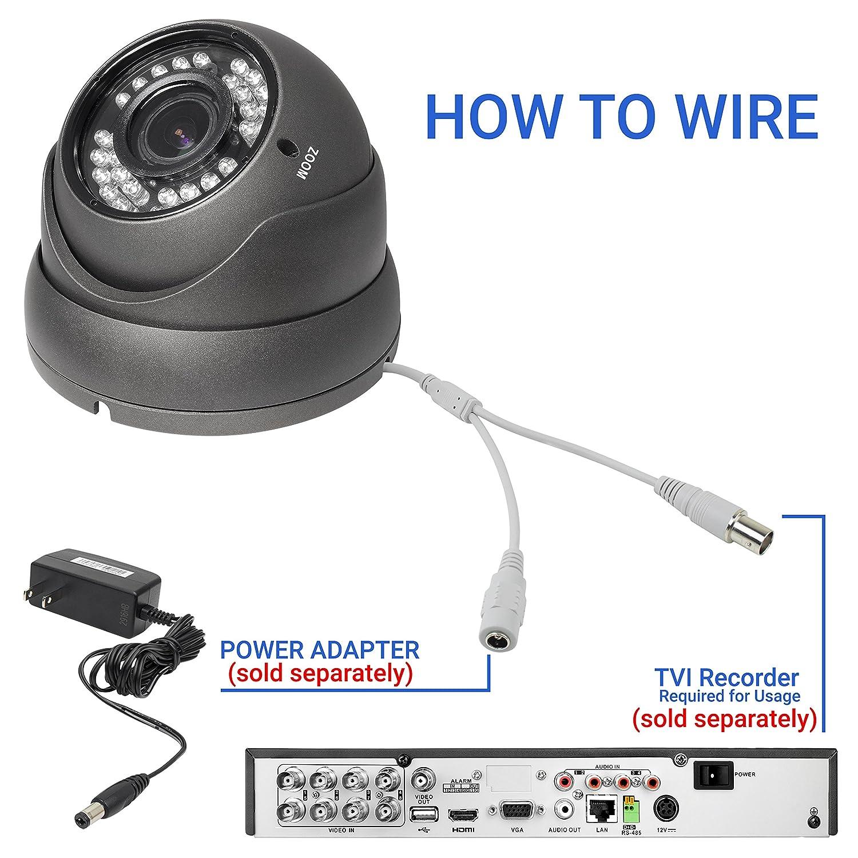 Amazon.com : R-Tech 2MP (1080P) HD TVI Outdoor Turret Dome Security ...