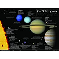 laminated THE SOLAR SYSTEM sun planets new school type educational POSTER wall chart