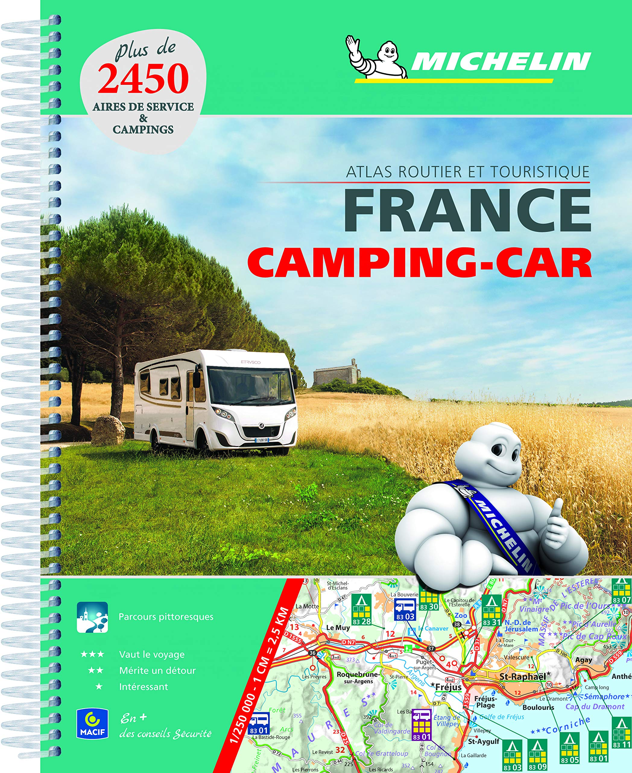 France Atlas Camping Car A4 2018 2018 Michelin Tourist Guides: Amazon.es: Michelin: Libros en idiomas extranjeros