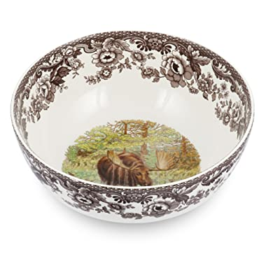 Spode Woodland Majestic Moose Round Salad Bowl