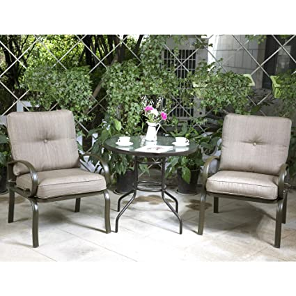 Amazon Com Cloud Mountain Bistro Table Set Outdoor Bistro Set Patio