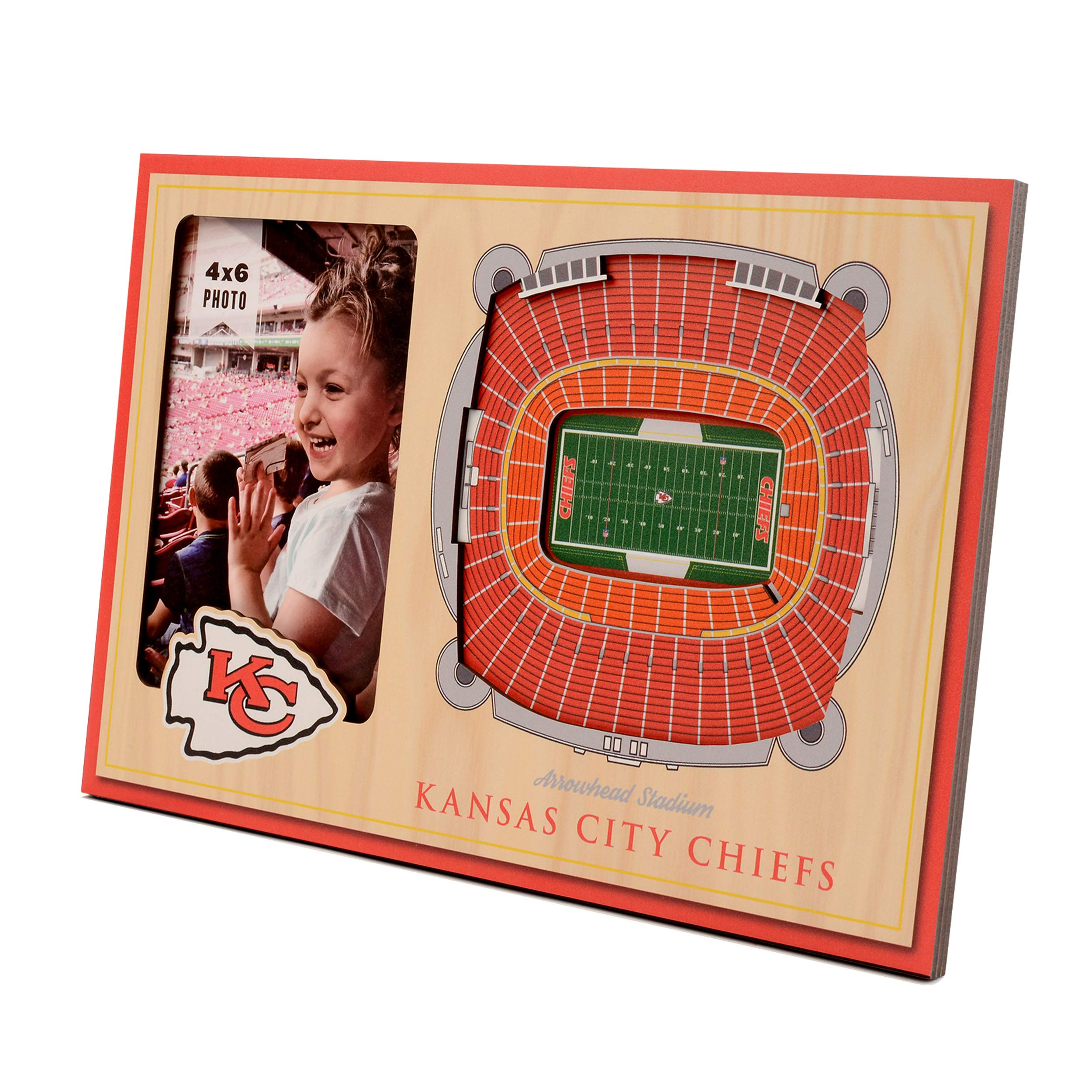 NFL Kansas City Chiefs 3D StadiumViews Picture Frame by YouTheFan