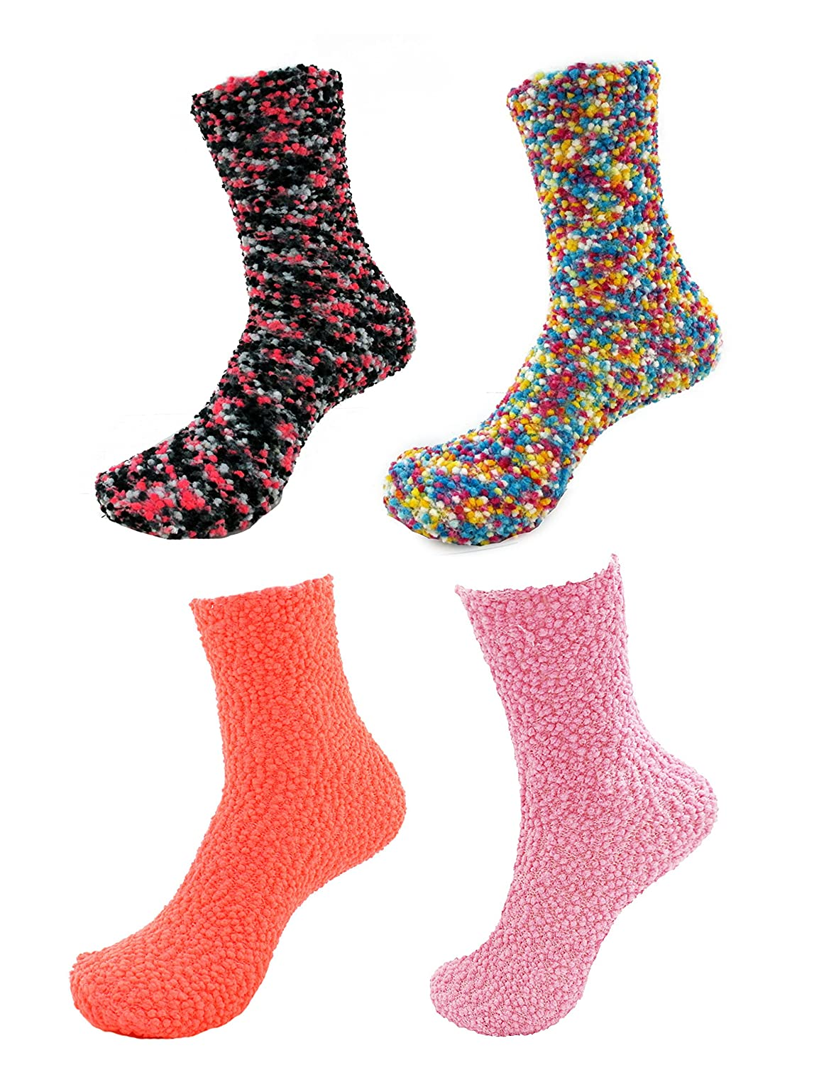 1dcf9bd6845 85%OFF Super Soft Warm Microfiber Fuzzy Socks - 4 Pairs - Value Pack ·  Conte Women s Black (Nero) Pantyhose Tights with a Thigh High Stockings ...