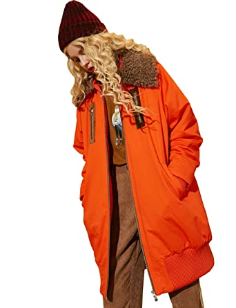 3102d458725 Women Down Padded Jacket with Faux Fur Collar Puffer Outwear Coat Maxi Down  Parka at Amazon Women s Coats Shop
