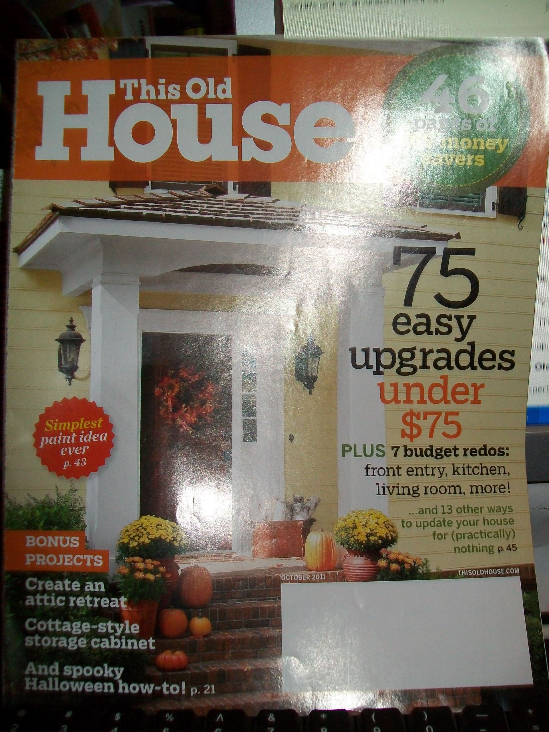 This Old House Magazine October 2011 pdf epub