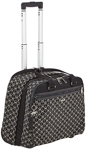 7620b042e2 Kipling Wheeled Working Bag with Laptop Protection - New CEROC Soft Geo Bl:  Amazon.in: Bags, Wallets & Luggage