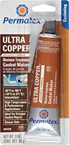 Permatex 81878Ultra Copper Maximum Temperature RTV Silicone Gasket Maker, 3 oz. Tube