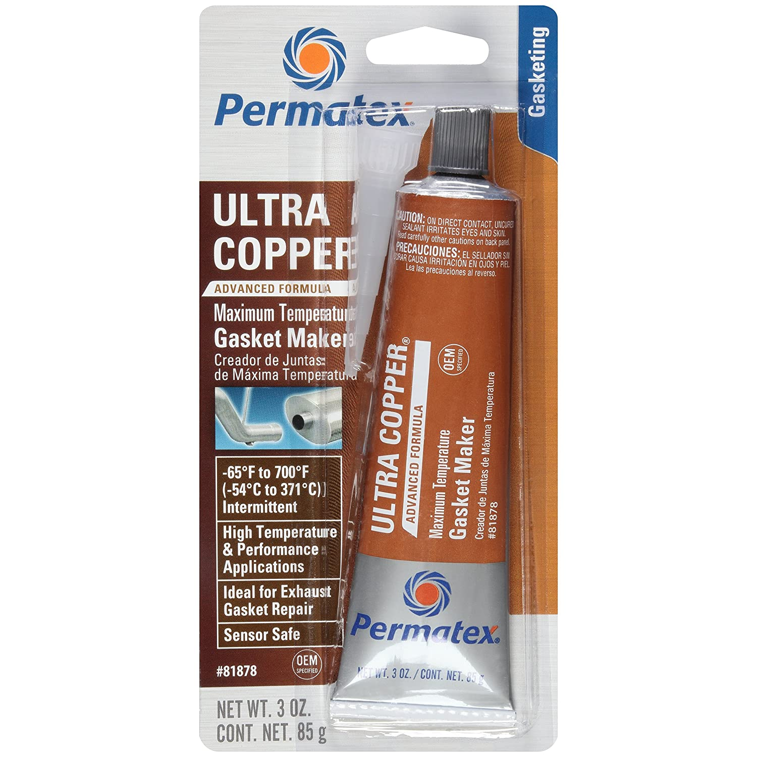 Permatex 230-81878 # 101 Ultra Copper Temp-rature maximale Gasket Maker 3OZ
