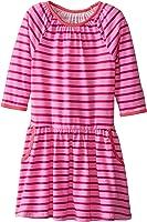 Marmellata Girls' Pink Striped Knit Pocket Dress