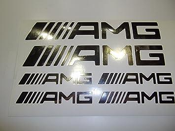 Amg Schriftzug Emblem Logo Aufkleber Sticker Chrom Amazon