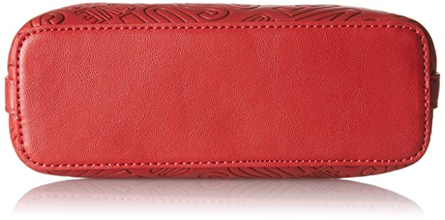 Borsa Embossed Pu Rosso, Womens Baguette, Rot (Red), 15x19x7 cm (B x H T) Love Moschino