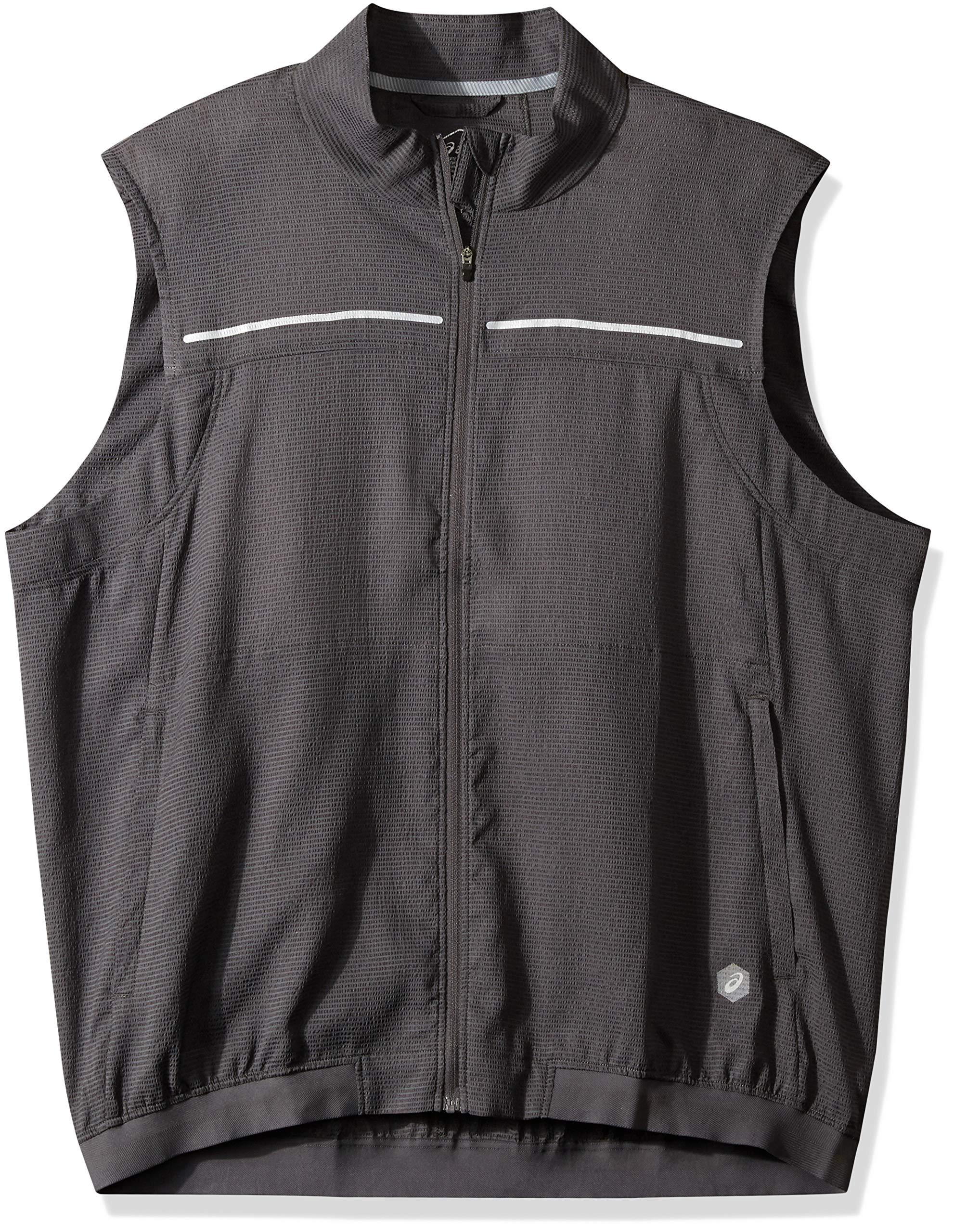 ASICS Men' Lite-Show Vest, Dark Grey, Small