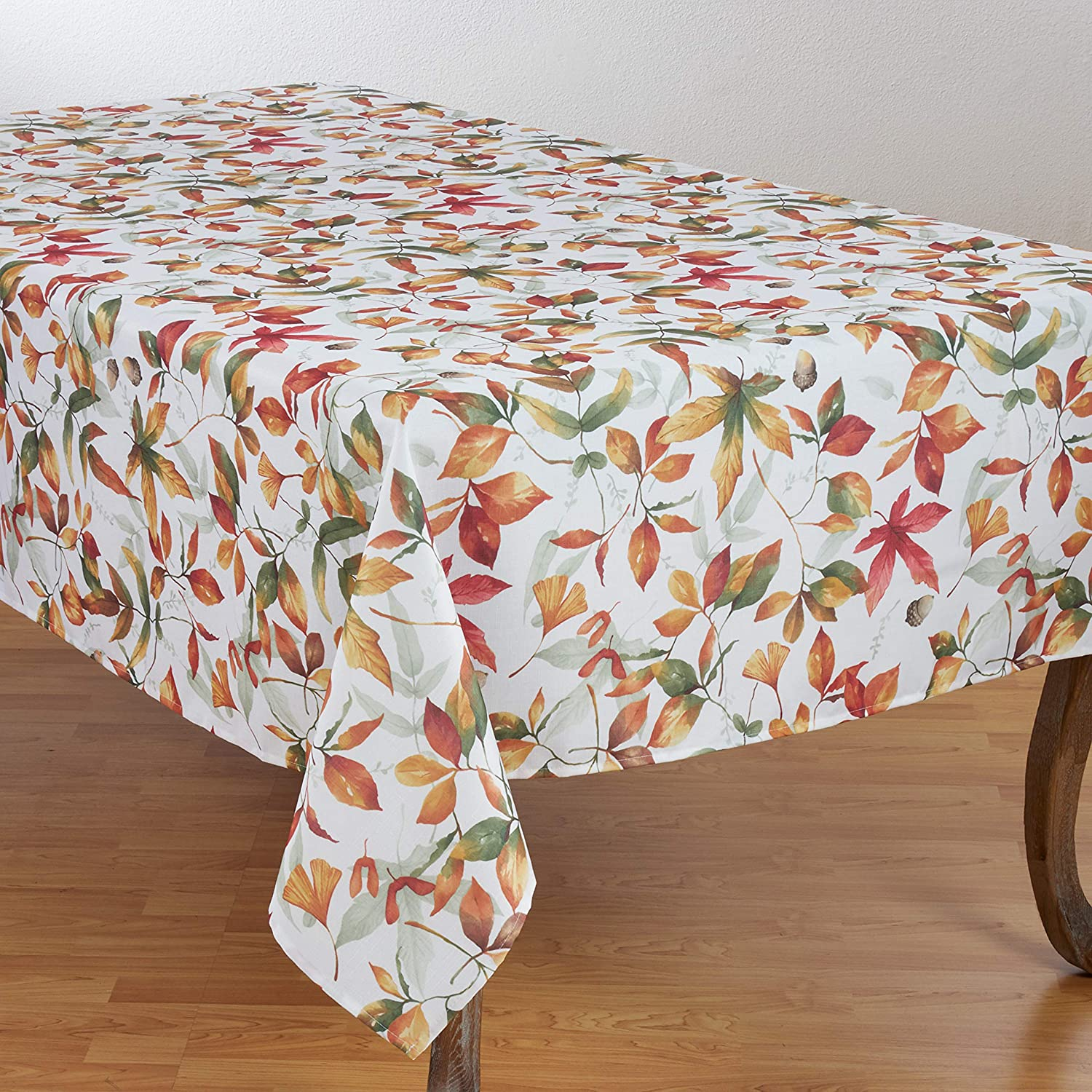 SARO LIFESTYLE 5050.M1672B Feuilles Collection Beautiful Polyester Table Runner with Fall Leaves Design, 16