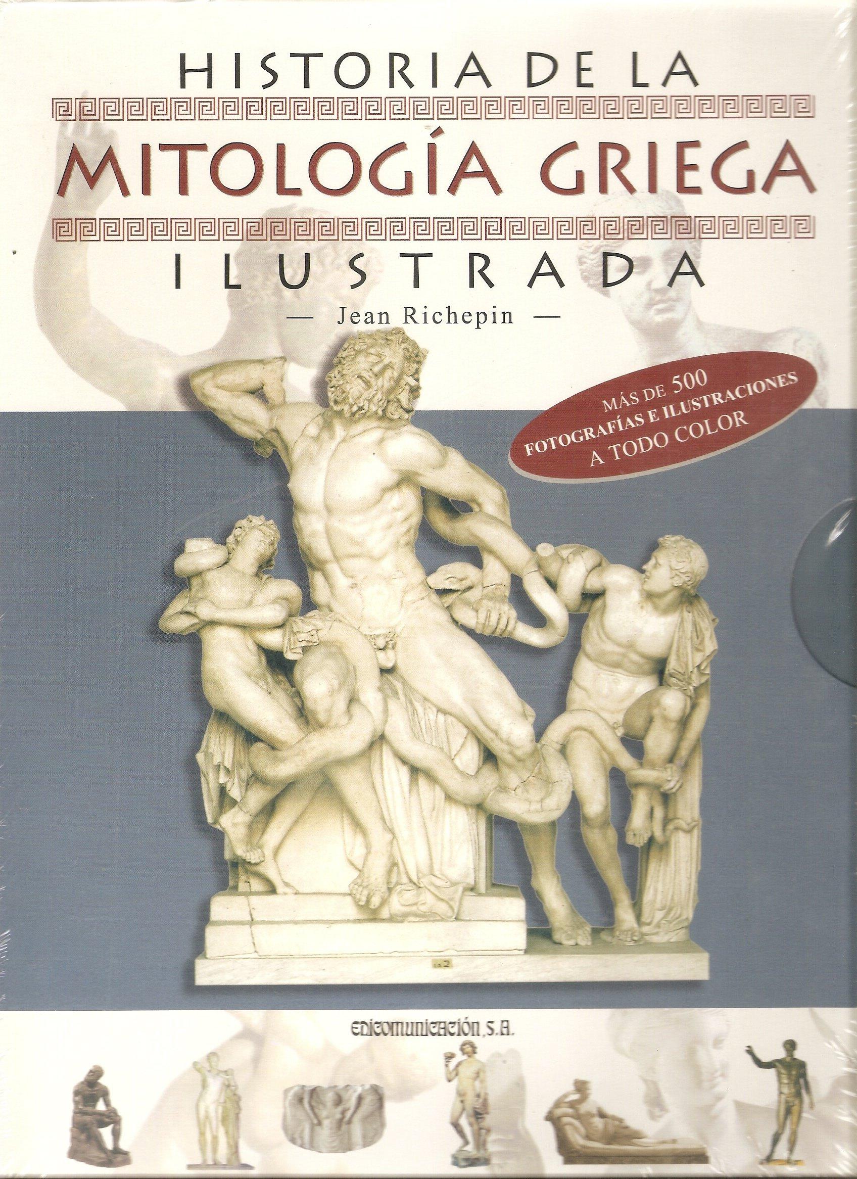 Historia de la mitologia griega ilustrada (2 tomos): Amazon.es: Richepin, Jean: Libros