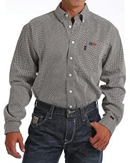 89da47b92833 Amazon.com  Cinch Men s Flame Resistant Plaid Work Shirt  Clothing