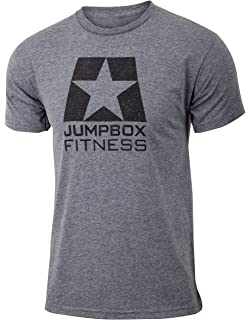 485f801324d51 Jumpbox Fitness Black Logo - Gray - Men s Training Tri Blend Workout T-Shirt