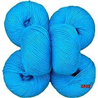 M.G 100% Acrylic Wool Azure Baby Soft Wool Ball Hand knitting wool/Art Craft soft fingering crochet hook yarn, needle knitting yarn thread dyed