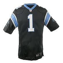 The Nike Carolina Panthers Cam Newton NFL Game Team Jersey Black/Tidal Blue Size X-Large