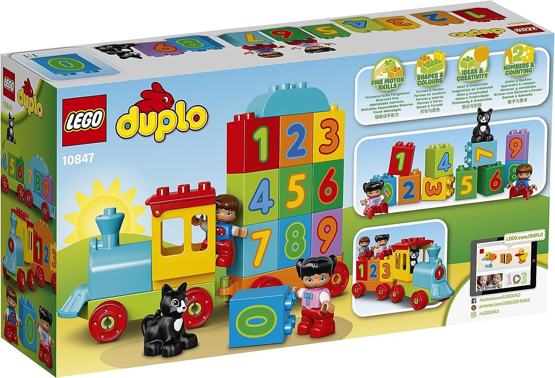 temprano Lego 10847 Duplo Mi Primer Número De Tren de Juguete con número decorado ladrillos